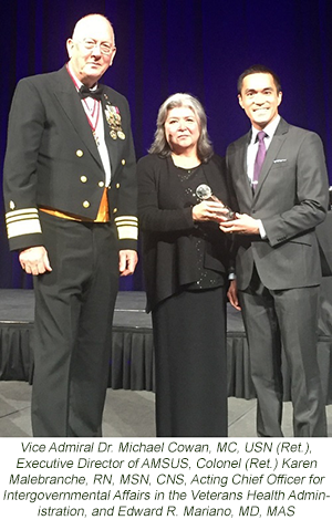 CSA's Mariano Honored by US Department of Veterans Affairs