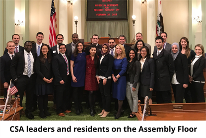 residents on assembly floor
